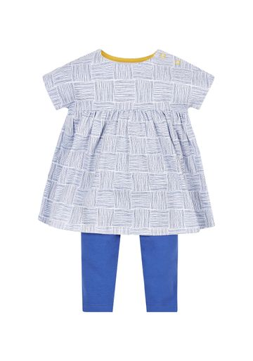 Mothercare | Girls Dress And Leggings Set - Blue