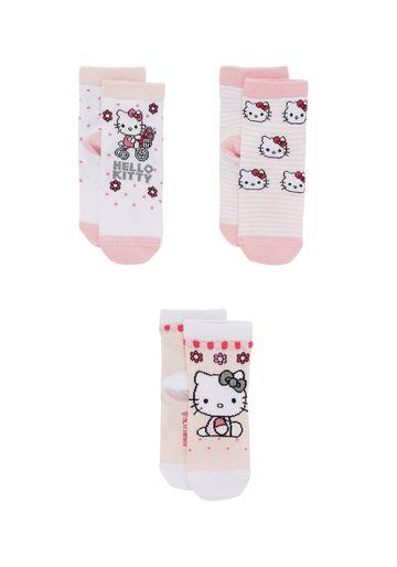 Mothercare | Girls  Socks Kitty Design - Pack Of 3 - Pink
