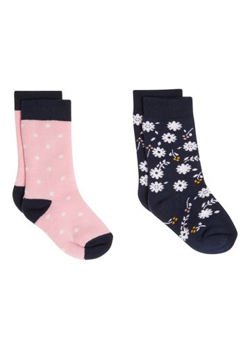 Mothercare | Girls Floral Thermal Welly Socks - 2 Pack - Multicolor