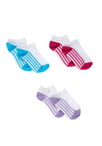 Mothercare | Girls White Sporty Trainer Socks - 3 Pack - Multicolor