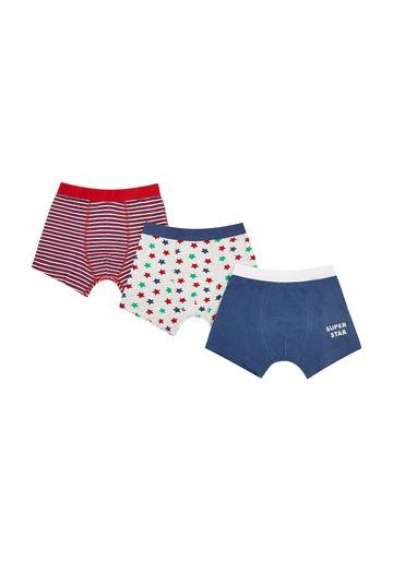 Mothercare | Boys Super Star Trunks - 3 Pack - Multicolor