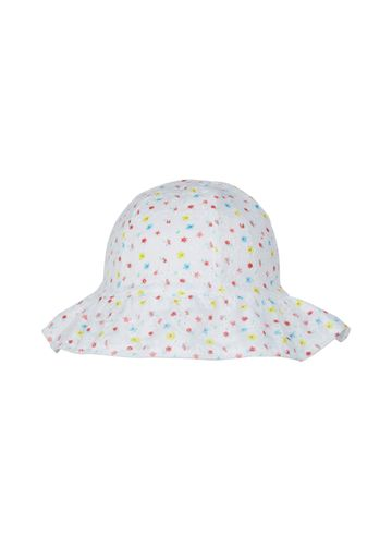Mothercare | Girls Floral Broderie Sun Hat - White