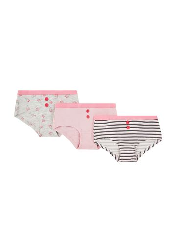 Mothercare | Girls Ballerina Hipsters - 3 Pack - Pink