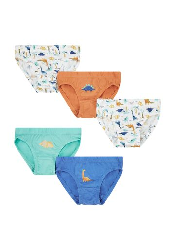 Mothercare | Boys Dinosaur Briefs - 5 Pack - Multicolor