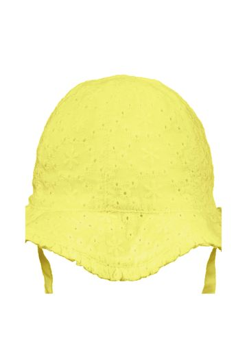 Mothercare | Girls Yellow Broderie Sun Hat - Yellow