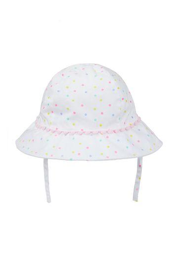 Mothercare | Girls White Neon Spot Sun Hat - Multicolor