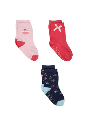 Mothercare   Girls Cupcake And Cherry Socks - 3 Pack - Multicolor