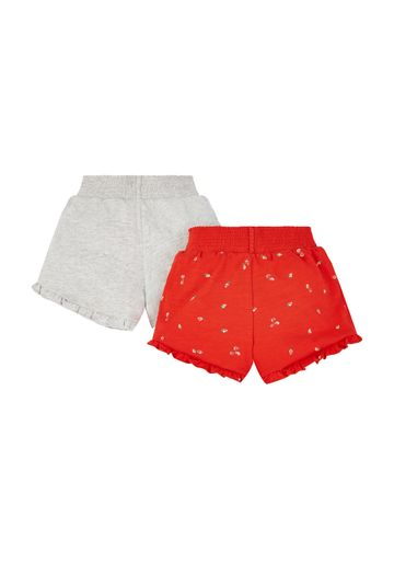 Mothercare | Girls Red Strawberry Shorts - 2 Pack - Red