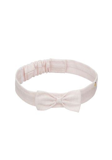 Mothercare | Girls Pink Bow Stripe Headband - Pink
