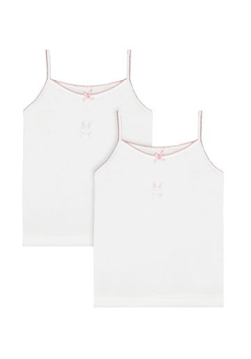 Mothercare | Girls Bunny Cami Vests - 2 Pack - Multicolor