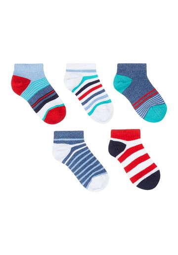 Mothercare | Boys Striped Trainer Socks - 5 Pack - Multicolor