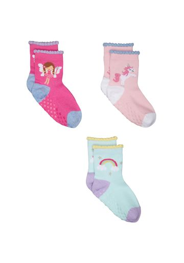 Mothercare | Girls Unicorn And Rainbow Socks - 3 Pack - Multicolor