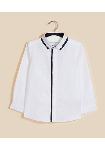 Mothercare | White Solid Casual Shirt