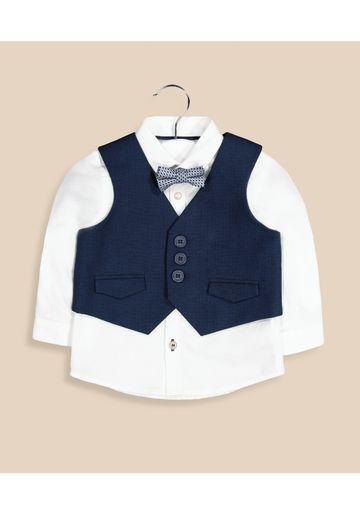 Mothercare | Multicoloured Solid Waistcoat Set