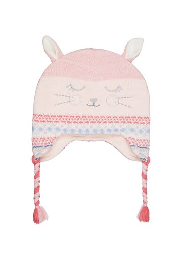 Mothercare | Girls Novelty Bunny Trapper Hat - Pink