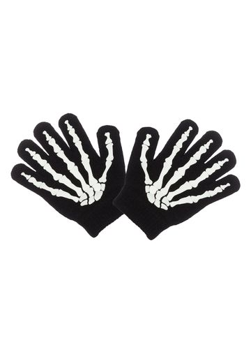 Mothercare | Boys Black Skeleton Magic Gloves - Black