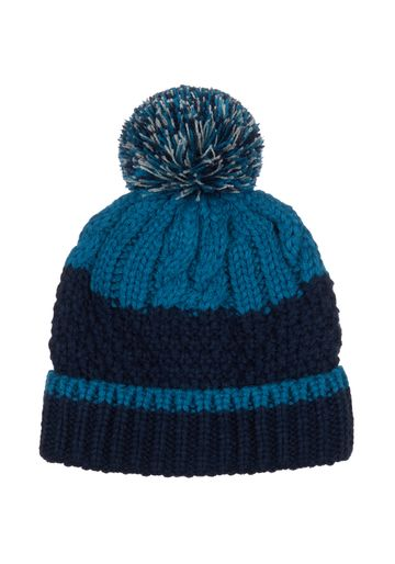 Mothercare | Boys Teal And Navy Cable - Knit Beanie Hat - Teal
