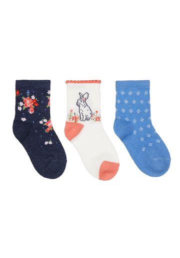 Mothercare | Girls Flower Socks - 3 Pack - Multicolor