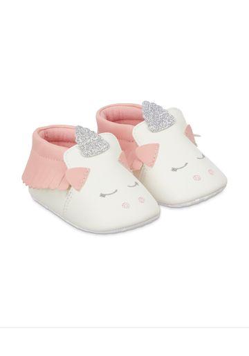 Mothercare | White Unicorn Pram Trainers