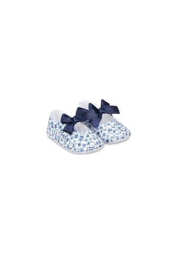 Mothercare | Blue Heritage Floral Baby Pram Shoes
