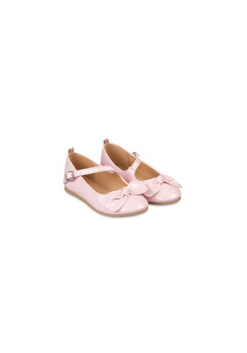 Mothercare | Girls Pink Patent Ballerina Shoes - Pink