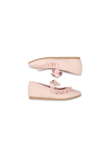 Mothercare | Girls Ballerinas Bow And Frill Detail - Pink