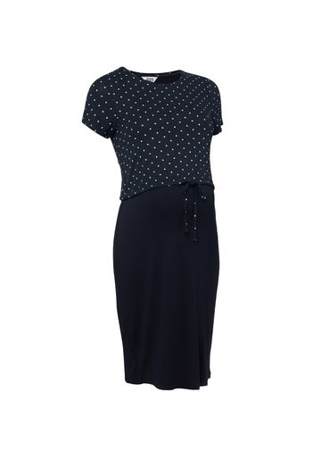 Mothercare | Women Navy Polka - Dot Nursing Dress - Navy