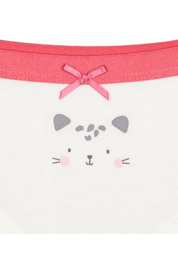 Mothercare   Pink Cat Leopard Briefs - Pack of 3