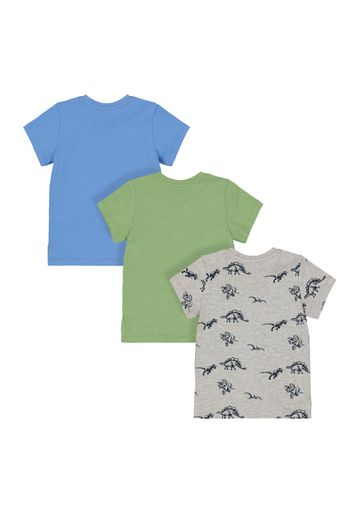 Mothercare | Dinosaur and Green T-Shirts - Pack of 3