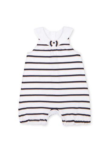 Mothercare   Girls Sleeveless Romper Striped - White