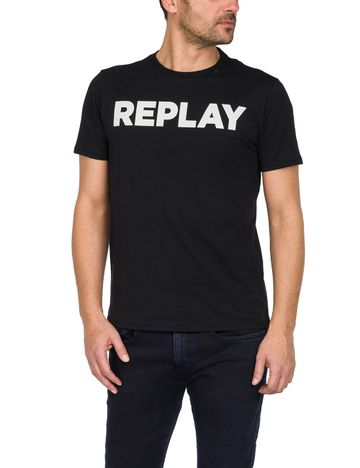 REPLAY | Black Printed T-Shirt