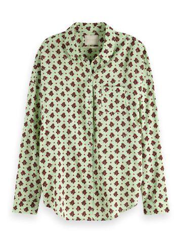 Scotch & Soda   Mint Floral Casual Shirt