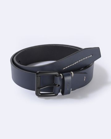 GAS   Men's Abhik Blue Solid Belt