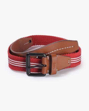 GAS   Men's Hari Red Solid Belt