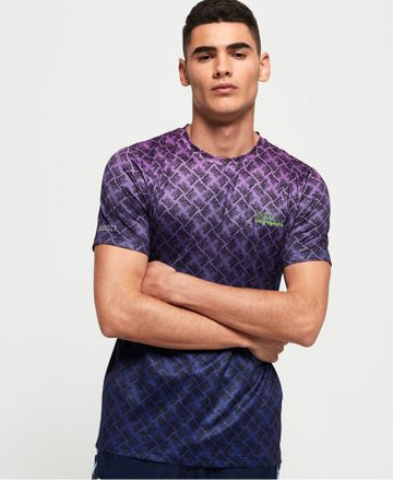 Superdry | Superdry Bright Purple & Ultraviolet Fade T-Shirt