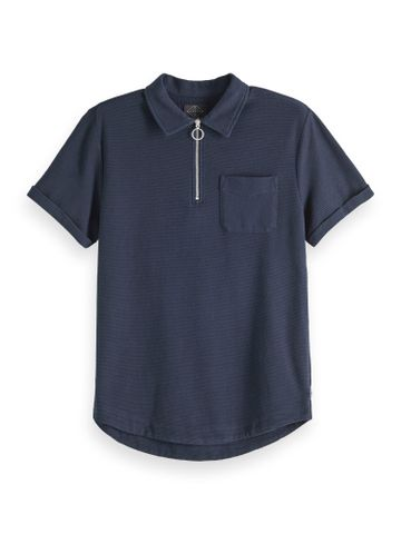 Scotch & Soda | Knitted polo with metal zip