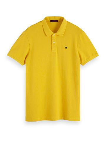 Scotch & Soda | Classic garment-dyed cotton pique polo