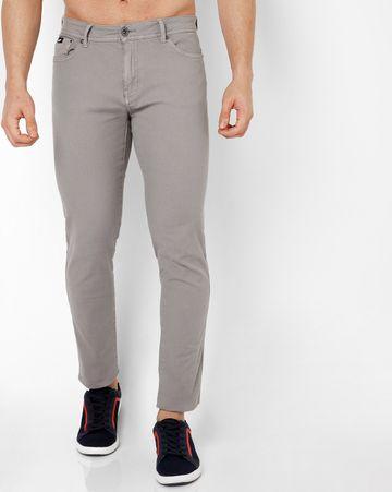 GAS | Men's Sax Zip Skinny Fit Grey Jeans