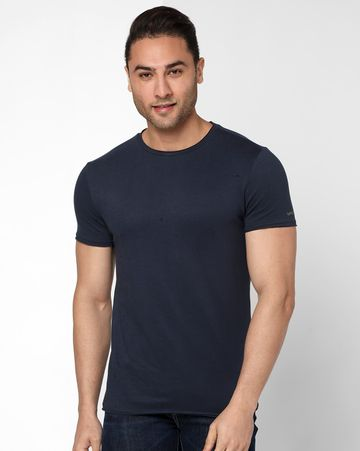 GAS | Men's Scuba Basic In Navy Blue Solid T-shirt