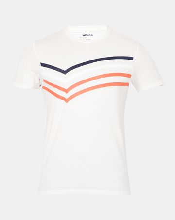 GAS | Men's Scuba Bb In White Printed T-shirt