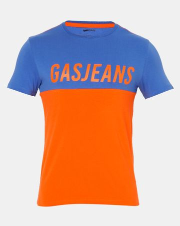 GAS | Men's Scuba Gj In Orange Colour Blocked T-shirt