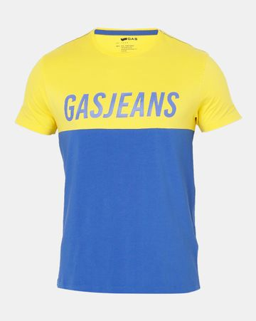 GAS | Men's Scuba Gj In Blue Colour Blocked T-shirt