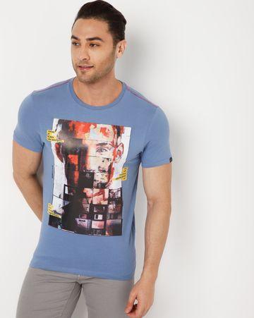 GAS | Men's Scuba/S Floppy In Black Printed T-shirt