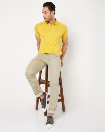GAS | Men's Mitch Straight Fit Beige Jeans