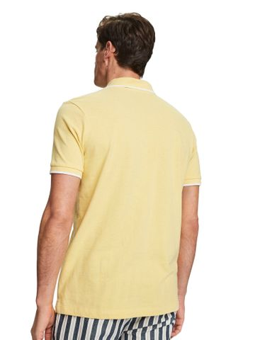 Scotch & Soda | Bamboo Yellow Melange Solid Polo T-Shirt