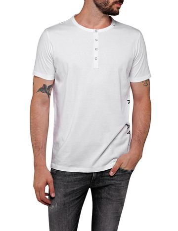 REPLAY | White Solid T-Shirt