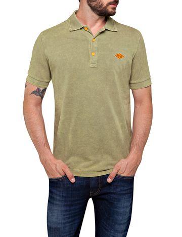 REPLAY   Sage Melange Polo T-Shirt