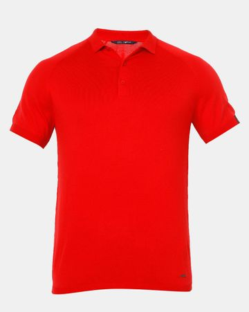 GAS   Men's Ryce S/S In Red Solid Polo