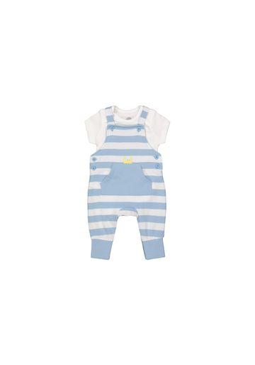 Mothercare | Boys Half Sleeves Dungaree Set Stripes - Blue White