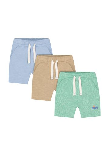 Mothercare | Boys Knitted Shorts Car Print - Pack Of 3 - Multicolor